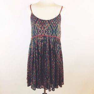 Free people babydoll tunic top peasant BoHo XS
